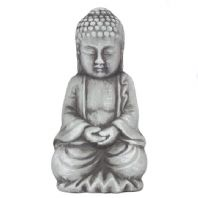 Small Grey Rustic Buddah Ornament Perfect For The Smaller Garden Or Indoors....